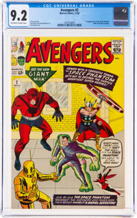 The Avengers #2 (Marvel, 1963) CGC NM- 9.2 Off-white to white pages