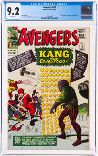 The Avengers #8 (Marvel, 1964) CGC NM- 9.2 White pages
