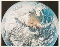 Explorers:Space Exploration, Charlie Duke Signed Apollo 16 View of Earth Color Photo.