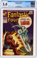 Silver Age (1956-1969):Superhero, Fantastic Four #55 (Marvel, 1966) CGC VG/FN 5.0 Off-white pages....