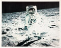 "Explorers:Space Exploration, Neil Armstrong Signed Large Apollo 11 ""Visor"" Color Photo...."