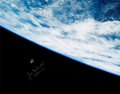 Explorers:Space Exploration, Jim McDivitt Signed Large Apollo 9 Distant View of LM Spider Color Photo. ...
