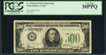 Small Size:Federal Reserve Notes, Fr. 2202-B $500 1934A Federal Reserve Note. PCGS Very Fine 30PPQ.. ...
