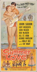 """Movie Posters:Rock and Roll, Summer Love (Universal International, 1958). Folded, Fine+. Three Sheet (41"""" X 78.5""""). Rock and Roll.. ..."""