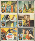 """Movie Posters:Serial, Flash Gordon (Filmcraft, R-1950). Overall: Fine+. Title Lobby Card & Lobby Cards (5) (11"""" X 14"""") Reissue Title: Rocket Shi... (Total: 6 Items)"""