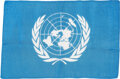 Explorers:Space Exploration, Apollo 16 Flown Larger-Size United Nations Flag Directly f...