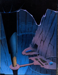 """Batman the Animated Series """"The Lion and the Unicorn"""" Production Background (Warner Brothers, 1995).... (Total..."""