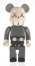 Collectible, KAWS X BE@RBRICK. Companion 400% (Grey), 2002. Painted cast vinyl. 10-3/4 x 5-1/4 x 3-3/4 inches (27.3 x 13.3 x 9.5 cm)...
