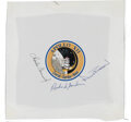 Explorers:Space Exploration, Apollo 12 Crew-Signed Mission Insignia Beta Cloth,...