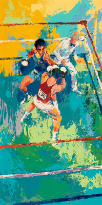 "1980 ""Olympic Boxing Moscow 1980"" Limited Edition Serigraph Signed by Leroy Neiman"