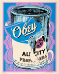 Prints & Multiples, Shepard Fairey (b. 1970). Soup Can IV, 2009. Screenprint in colors on speckled cream paper. 20 x 16 inches (50.8 x 40.6 ...