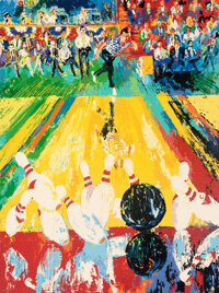 """1982 """"Million Dollar Strike"""" Limited Edition Serigraph Signed by Leroy Neiman"""