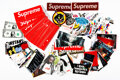 Collectible, Supreme . Group of 260 Stickers, early 21st century. Digital prints on adhesive sticker. 2-1/4 x 8 inches (5.7 x 20.3 cm...