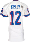 Football Collectibles:Uniforms, 1992 Jim Kelly Game Worn & Signed Buffalo Bills Jersey.