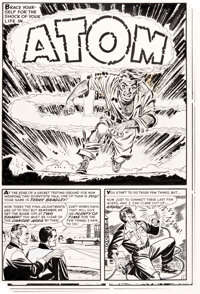 "Joe Certa Chamber of Chills Magazine #18 Complete 5-Page Story ""Atom"" Original Art (Harvey, ... (Total: 5)"