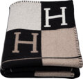 "Luxury Accessories:Home, Hermès Noir & Ecru Avalon III Blanket. Condition: 1. 53"" Width x 67"" Length. ..."