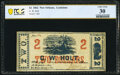 Obsoletes By State:Louisiana, New Orleans, LA- G. W. Holt $2 Jan. 1, 1862 PCGS Banknote Very Fine 30.. ...