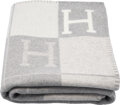 "Luxury Accessories:Home, Hermès Gris & Ecru Avalon III Blanket. Condition: 1. 53"" Width x 67"" Length . ..."