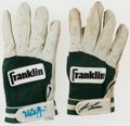 Baseball Collectibles:Uniforms, Bash Brothers Signed Batting Gloves, Lot of 2....