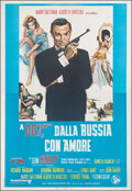 "Movie Posters:James Bond, From Russia with Love (Dear Film, R-1970s). Very Fine on Linen. Italian 4 - Fogli (54"" X 78""). James Bond. From the Carter..."