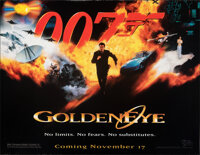 """GoldenEye (United Artists, 1995). Rolled, Very Fine. Bus Shelter (46.25"""" X 60""""). James Bond. From the Carter-J..."""