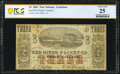 Obsoletes By State:Louisiana, New Orleans, LA- Red River Packet Co. $3 Dec. 1, 1861 PCGS Banknote Very Fine 25.. ...
