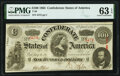 Confederate Notes:1863 Issues, Gutter Fold Error T56 $100 1863 PF-2 Cr. 404 PMG Choice Un...