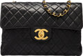 Luxury Accessories:Bags, Chanel Vintage Black Quilted Lambskin Leather Jumbo Flap B...