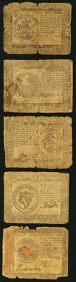 Continental Currency May 10, 1775 $5 Fair; Continental Currency November 29, 1775 $6 Good; Continental Currency July...