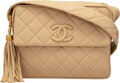 "Luxury Accessories:Bags, Chanel Beige Quilted Lambskin Leather Crossbody Camera Bag with Gold Hardware. Condition: 2. 10.5"" Width x 8"" Height x..."
