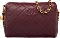 "Luxury Accessories:Bags, Chanel Burgundy Quilted Caviar Leather Camera Bag with Gold Hardware. Condition: 2. 9.5"" Width x 7"" Height x 4"" Depth..."