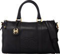 "Luxury Accessories:Bags, Chanel Black Caviar Leather CC Duffle Bag. Condition: 4. 14"" Width x 8.5"" Height x 6.5"" Depth. ..."