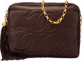 Luxury Accessories:Bags, Chanel Brown Lambskin Leather CC Camera Bag with Gold Hard...