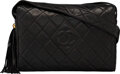 """Luxury Accessories:Bags, Chanel Black Quilted Lambskin Leather Crossbody Camera Bag with Gold Hardware. Condition: 3. 11.5"""" Width x 8"""" Height x..."""
