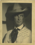 "Movie/TV Memorabilia:Autographs and Signed Items, Tim McCoy Autographed Picture. An outstanding 11"" x 14"" inscribedand signed matte finish portrait of legendary cowboy star ..."