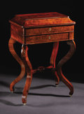 Furniture, An Early Nineteenth Century Mahogany Regency Ladies Vanity Table. Unknown maker, English. Circa 1810. Unmarked. 31 inches ...