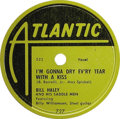 "Music Memorabilia:Recordings, Bill Haley and his Saddle Men ""I'm Gonna Dry Ev'ry Tear With AKiss"" 78 (Atlantic 727, 1950). The Rock and Roll Hall of Fame..."