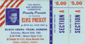 Music Memorabilia:Tickets, Elvis Presley Concert Ticket and RCA Newsletter. Concert ticket forSaturday, March 25, 1961, at the Bloch Arena in Pearl Ha... (Total:2 )