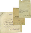 Movie/TV Memorabilia:Autographs and Signed Items, Signed Letters from Carole Lombard, Fred MacMurray, Ray Milland.These lot includes three notes from Paramount stars Carole...