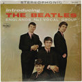 "Music Memorabilia:Recordings, ""Introducing...The Beatles"" Stereo LP (Vee-Jay 1062, 1964). Blacklabel with silver letters, with ""VJ"" in brackets, includin..."
