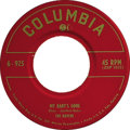 """Music Memorabilia:Recordings, Ravens """"My Baby's Gone""""/ """"I'm So Crazy For Love"""" 45 (Columbia 825,1950). Records by this R&B vocal group are highly sought-..."""