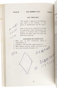 "Elvis Presley's ""Sacred Science of Numbers"" Book. Elvis Presley's spiritual nature, always strong, became rath..."