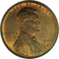 Lincoln Cents: , 1909-S VDB 1C MS64 Red and Brown PCGS. Both sides of this key-date1909-S VDB cent depict pleasing luster and alternating o...