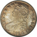 Bust Half Dollars: , 1824/4 50C MS65 NGC. O-110, R.2. The tip of a 4 is apparent to theleft of the top of the prominent 4. There is a sizeable ...