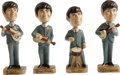 Music Memorabilia:Memorabilia, Vintage Beatles Bobbin' Head Figurines Still in Box (Car Mascots,Inc., 1964). This set contains the rarest piece of the set...