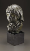 Bronze:European, A Bronze Head of Coco. Pierre-Auguste Renoir (1841-1919),French. Modeled 1908; cast by 1949. Bronze with green patina...