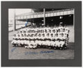 Autographs:Photos, 1951 New York Yankees Multi-Signed Oversized Team Photograph - DiMaggio, Mantle, Berra And Mize!...