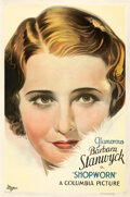 Movie Posters:Drama, Shopworn (Columbia, 1932). Good- on Linen. One She...