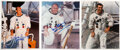 Explorers:Space Exploration, Apollo 12: Three Individually-Signed White Spacesuit Color...