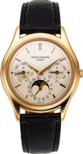 Timepieces:Wristwatch, Patek Philippe, Very Fine and Desirable Ref. 3940J First S...